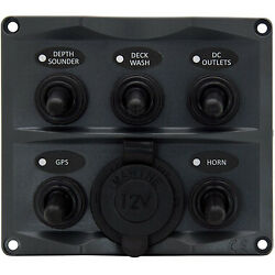 NEW Switch Panel 5PCig Socket with Led - 10 Pack from Blue Bottle Marine