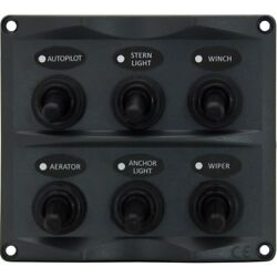 NEW Switch Panel 6P with Led - 10 Pack from Blue Bottle Marine