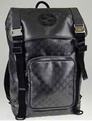 Rare Authentic Silver Gg Coated Canvas Interlocking G Supreme Backpack