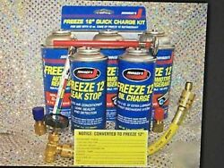 Freeze 12 R12 R134A AC Recharge kit Refrigeration R12 Charging Hose