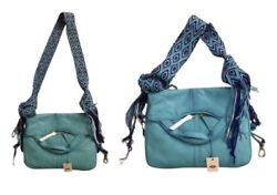Vika Duque Turquoise Crossbody Bag