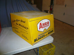 Vintage 60s Gas Station Anco Wiper Display Service Parts Cabinet Sign Countertop