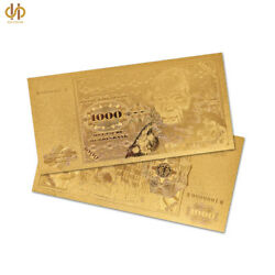 100pcs Gold Germany 1000 Reichs Mark Gold Banknote Note Paper Money Collecting