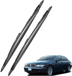 New Set OEM Front Windshield Wiper Blades For 2001-2008 BMW 7 Series E65 E66 E67