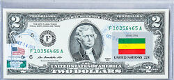 Two Dollar Bill Paper Money Us Bank Note Federal Reserve Currency Flag Ethiopia