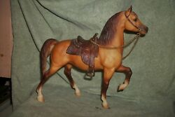 Breyer Traditional Ranger Cow Pony - Western Prancer - dun with saddle and reins