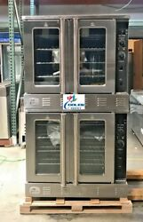 NEW Commercial Gas Double Stack Convection Oven 2 Deck Restaurant Kitchen NSF