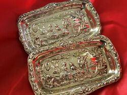 Sterling Silver Pin Trays - Cooper Brothers And Sons Ltd - Sheffield - 1973