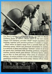 1961 Sperry Great Neck NY US Navy Terrier Missile System USS Dahlgren SPG-55 Ad