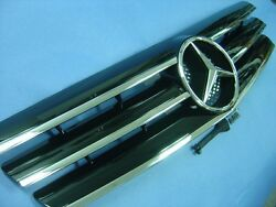 Black Front Grille For 1989-2001 Mercedes Benz R129 SL-Class (STAR NOT INCLUDED)