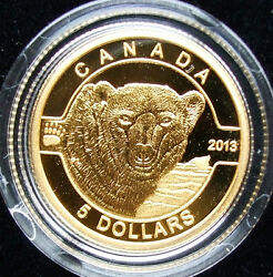 Collecterand039s Item.999 Pure Gold 5 Dollars Coins 1/10 Oz O Canada Set With Box