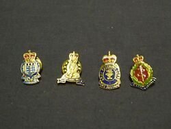 British Military Army Pin Lapel Badges X 4 Ordnance Pioneer Catering Medical