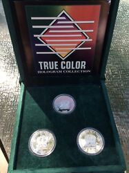 1998 Saint Thomas And Islands Holographic 3-coin Set Silver 1000 Dobras Andnbsp