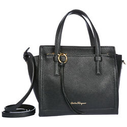 SALVATORE FERRAGAMO WOMEN'S LEATHER HANDBAG SHOPPING BAG PURSE NEW MINI TOTE 6F9