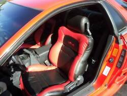 Custom 1991-1999 Mitsubishi 3000gt Replacement Leather Seat Cover Red/black