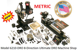 Sherline 6210dro 8-direction Mill And 17 Lathe Ultimate Dro Machine Shop Metric