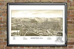 Old Map Of Johnstown Ny From 1888 - Vintage New York Art Historic Decor