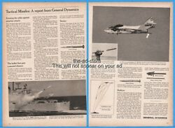 1966 General Dynamics US Navy Tarter Terrier Missile Army Red Eye Launcher Ad