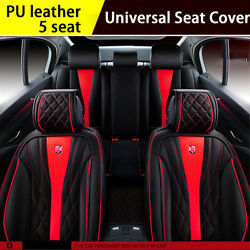 Luxury 6D Fully Surrounded Car Seat Cover 5 seats Cushion Microfiber Leather