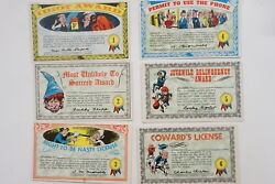 Nutty Awards Set Of 32 Cards 1964 Topps Postcard Size Excellent-near Mint