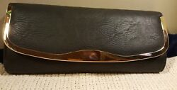 Aldo Black Clutch Purse Evening Bag Detachable Chain Strap Shoulder Bag