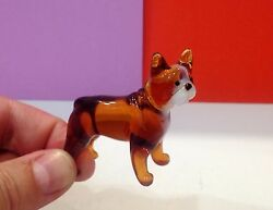 French Bulldog figurine dog blown glass Souvenirs from Russia for a collection