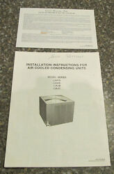 Installation Instructions air Cooled Condensing Units Air Conditioner 1991 + War