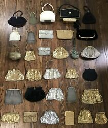 Antique Vtg Lot 33 German Silver & Gold Mesh Wristlet Coin Purse Whiting Davis