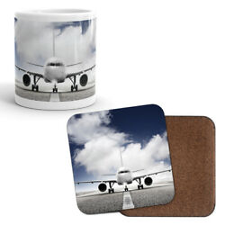 Mug And Coaster Set - Private Jet Aviation Plane Airplane Dad Brother Gift 8224