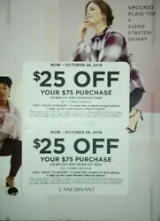 Lane Bryant Coupons-$25 Off $75 OR $50 Off $150 OR $75 Off $225-Exp:10282018