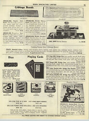 1954 Paper Ad Toy Marx Gas Service Station Cribbage Board Hohner Marmonicas