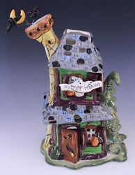 Heather Goldminc Blue Sky Clayworks Howlinand039 Mansion Halloween Candle House
