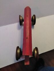 Gong Bell Mfg Co Noah's Ark 231 Pull Toy 1940's - Vintage Wood/tin Great Shape.