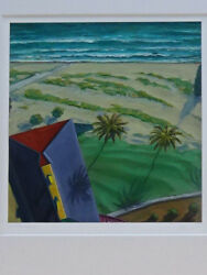 Douglas K. Morris original Iconic California Beach Painting #401 Coastal Shadows