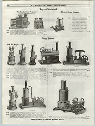 1919 Paper Ad Weeden Toy Steam Toys Engines Boiler Caloric Hot Air Wall Phone