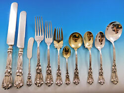 Iris by Durgin Sterling Silver Flatware Set for 12 Service 143 pieces Dinner