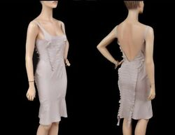 SS 2004 TOM FORD for GUCCI NUDE SILK DRESS 40 - 6