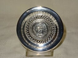 Collectable 925 Silver Peruvian Pin Dish - 1916 1/2 Sol Coin - 56g