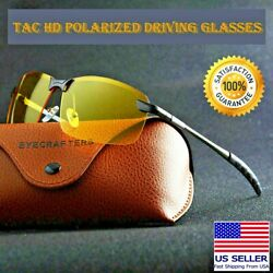 Tac Polarized HD Day Night Vision Glasses Aviator Men Driving Sports sunglasses $8.95