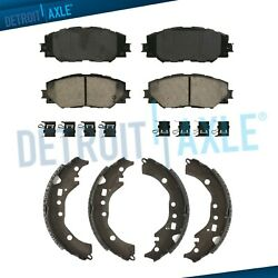 Front Ceramic Brake Pads + Rear Shoes For 2009-2017 2018 Scion Xd Toyota Corolla