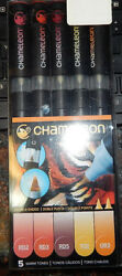 Chameleon Art Products 5-Pen Warm Tones Chameleon 5 Set -NEW