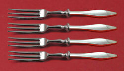 Lark By Reed And Barton Sterling Silver Fruit Fork Set 4-piece Hh Ws Custom 6