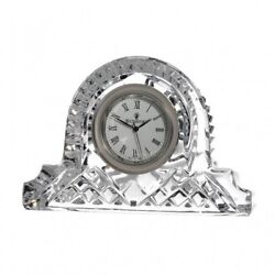 Waterford Crystal Lismore Cottage Clock Height 12cm