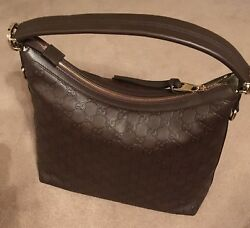 Authentic GUCCI Guccissima brown leather tote shoulder bag wextra strap NWOT