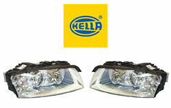 New Audi Pair Set Of Left And Right Xenon Headlights Hella