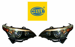 New Bmw Pair Set Of Left And Right Halogen Headlights Hella