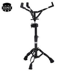 Mapex S800EB Armory Double Braced Black Snare Stand w Off Set Oni Ball Adjuster