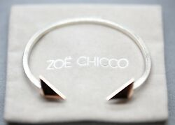 Zoe Chicco Mixed Metal Sterling Silver And 14k Rose Gold Arrow Cuff Bracelet
