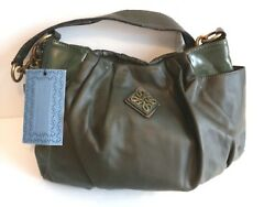 Womens Designer Handbag VERA WANG SIMPLY VERA Hunter Green Single Entry HOBO BAG