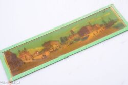 ✅ Magic Lantern Projection, Projector Picture Slide Glass 'cities Ships Harbor'